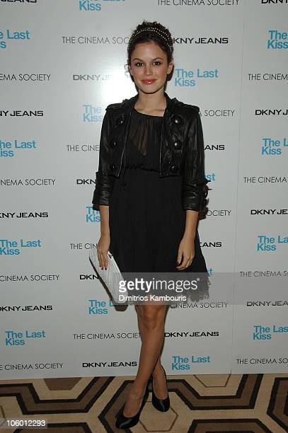 Rachel Bilson during The Cinema Society and DKNY Jeans Present Screening of The Last Kiss at Tribeca Grand in New York City New York United States