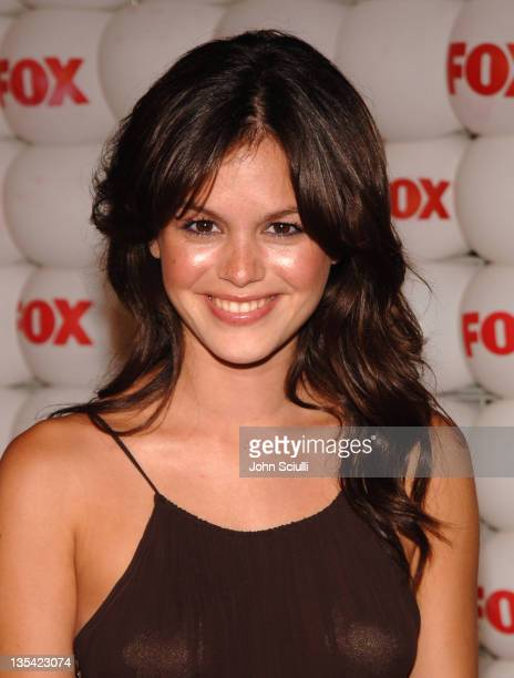 Rachel Bilson of The OC during FOX Summer 2005 AllStar Party Red Carpet at Santa Monica Pier in Santa Monica California United States