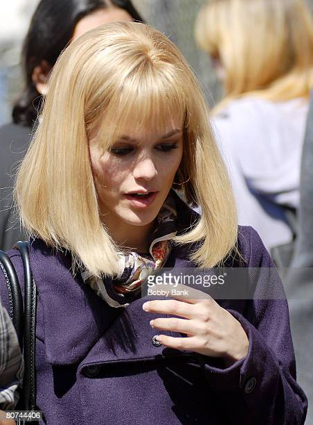 Rachel Bilson on Location for New York I Love You on the streets of Manhattan on April 16 2008 in New York City