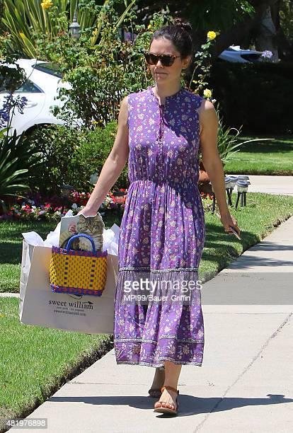 Rachel Bilson seen attending a birthday party on July 25 2015 in Los Angeles California