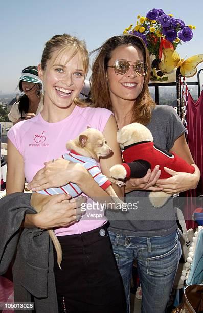 Rachel Blanchard with Yoda and Erin Daniels holding a Fifi Romeo stuffed dog
