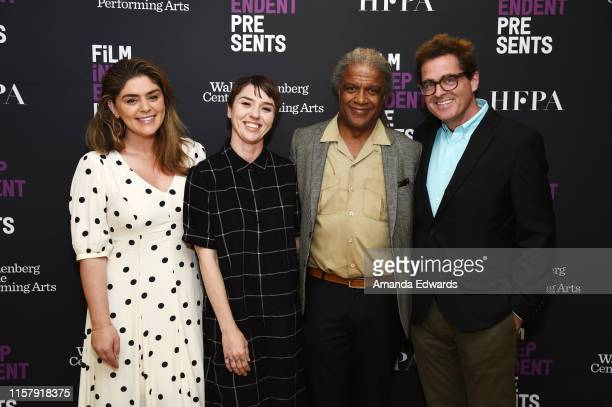 Rachel Bleemer Rebecca GillilandMontalvo Elvis Mitchell and Josh Welsh attend Film Independent's Live Read of When Harry Met Sally at the Wallis...