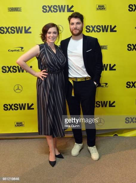 Rachel Bloom and Adam Pally attend the premiere of Most Likely To Murder during SXSW at Stateside Theater on March 12 2018 in Austin Texas