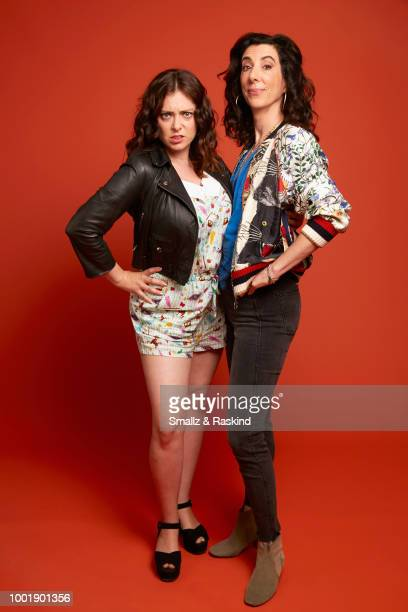Rachel Bloom and Aline Brosh McKenna from The CW Television Network's 'Crazy Ex-Girlfriend' pose for a portrait in the Getty Images Portrait Studio...