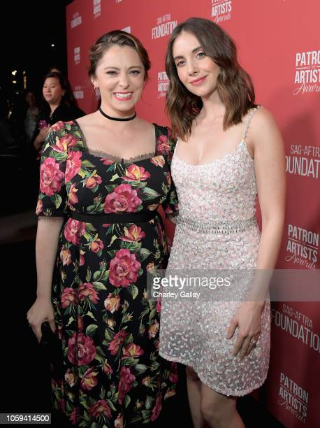 Rachel Bloom and Alison Brie attend the SAGAFTRA Foundation's 3rd Annual Patron of the Artists Awards at the Wallis Annenberg Center for the...