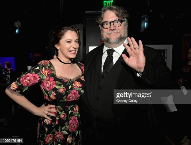 Rachel Bloom and Guillermo del Toro attend the SAGAFTRA Foundation's 3rd Annual Patron of the Artists Awards at the Wallis Annenberg Center for the...