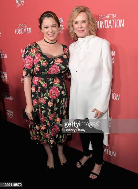 Rachel Bloom and SAGAFTRA Foundation President JoBeth Williams attend the SAGAFTRA Foundation's 3rd Annual Patron of the Artists Awards at the Wallis...