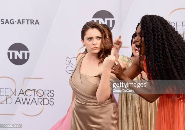 Rachel Bloom and Sydelle Noel attend the 25th Annual Screen ActorsGuild Awards at The Shrine Auditorium on January 27 2019 in Los Angeles California...
