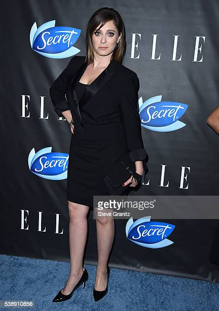 Rachel Bloom arrive at the ELLE Hosts Women In Comedy Event With July Cover Stars Leslie Jones Melissa McCarthy Kate McKinnon And Kristen Wiig at...