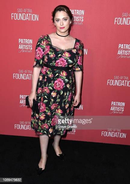 Rachel Bloom arrives at the SAGAFTRA Foundation's 3rd Annual Patron Of The Artists Awards at Wallis Annenberg Center for the Performing Arts on...