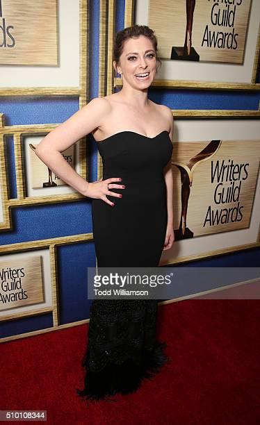 Rachel Bloom attends the 2016 Writers Guild Awards LA Ceremony at the Hyatt Regency Century Plaza on February 13 2016 in Los Angeles California
