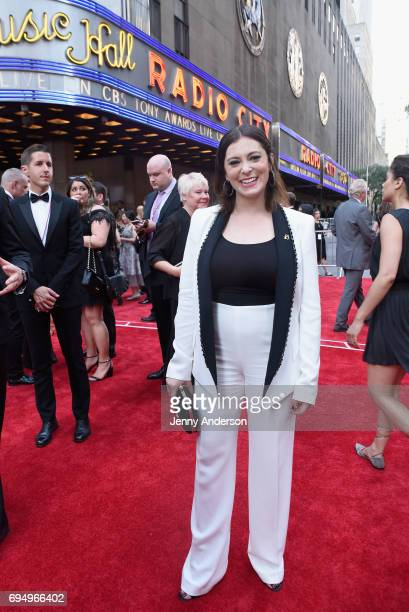 Rachel Bloom attends the 2017 Tony Awards at Radio City Music Hall on June 11 2017 in New York City