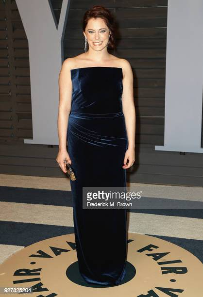 Rachel Bloom attends the 2018 Vanity Fair Oscar Party hosted by Radhika Jones at Wallis Annenberg Center for the Performing Arts on March 4 2018 in...