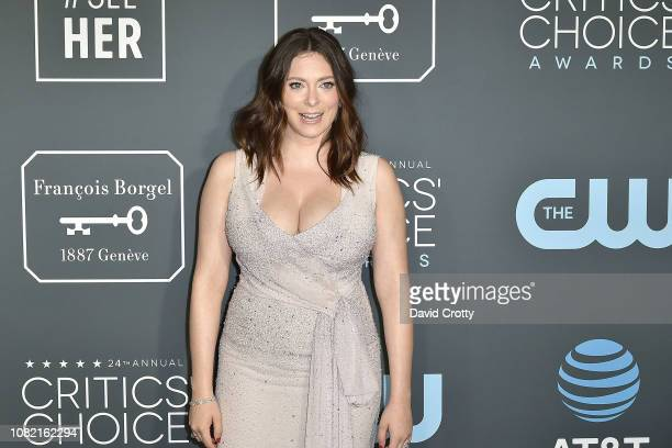 Rachel Bloom attends the 24th Annual Critics' Choice Awards Arrivals at Barker Hangar on January 13 2019 in Santa Monica California