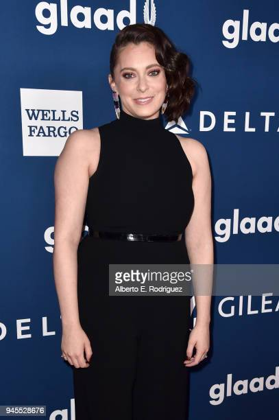 Rachel Bloom attends the 29th Annual GLAAD Media Awards at The Beverly Hilton Hotel on April 12, 2018 in Beverly Hills, California.