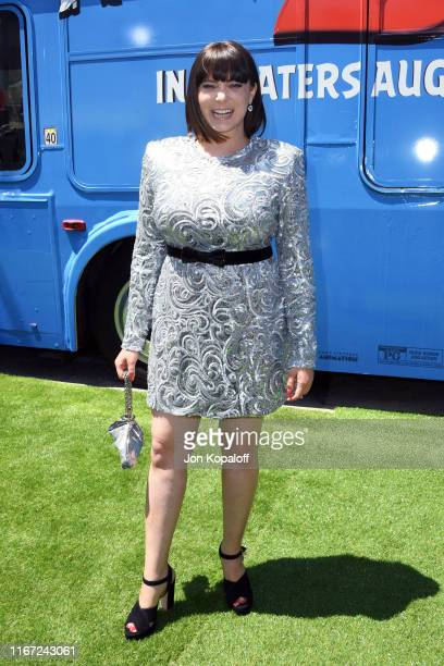 """Rachel Bloom attends the Premiere of Sony's """"The Angry Birds Movie 2"""" on August 10, 2019 in Los Angeles, California."""