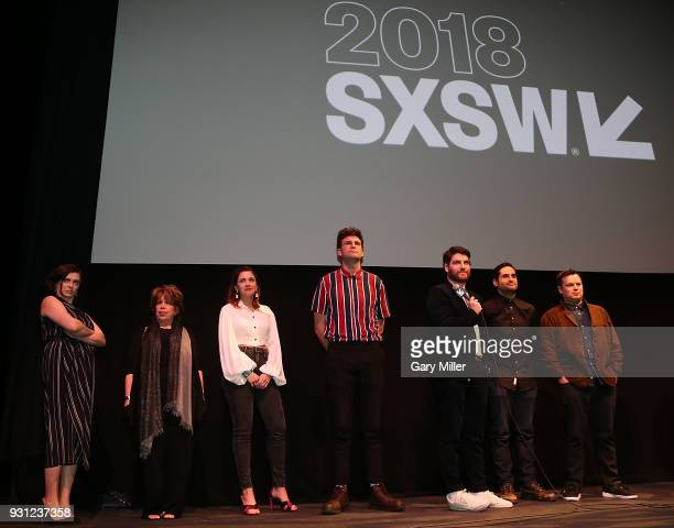 Rachel Bloom Bonnie Rose Petra Ahmann John Reynolds Adam Pally Doug Mand and Dan Gregor attend the world premiere of Most Likely To Murder at the...