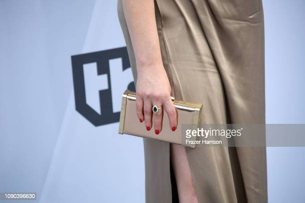 Rachel Bloom clutch detail attends the 25th Annual Screen Actors Guild Awards at The Shrine Auditorium on January 27 2019 in Los Angeles California