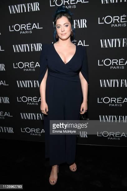 Rachel Bloom is seen as Vanity Fair and L'Oréal Paris Celebrate New Hollywood on February 19 2019 in Los Angeles California