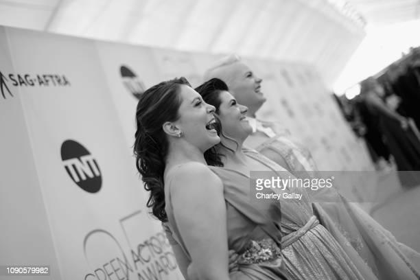 Rachel Bloom Rebekka Johnson and Kimmy Gatewood attend the 25th Annual Screen ActorsGuild Awards at The Shrine Auditorium on January 27 2019 in Los...