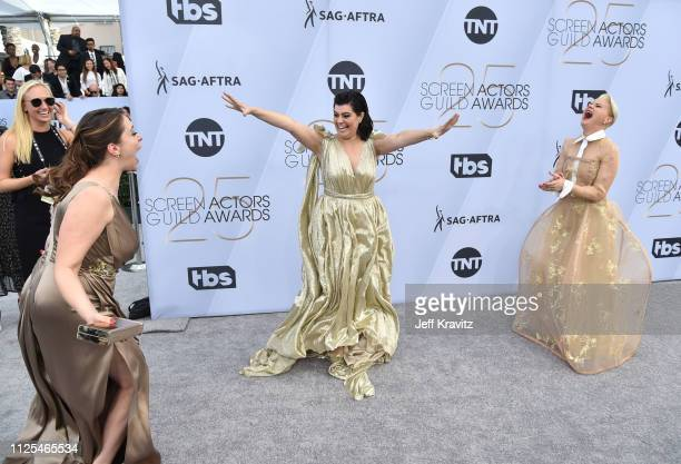 Rachel Bloom Rebekka Johnson and Kimmy Gatewood attend the 25th Annual Screen Actors Guild Awards at The Shrine Auditorium on January 27 2019 in Los...
