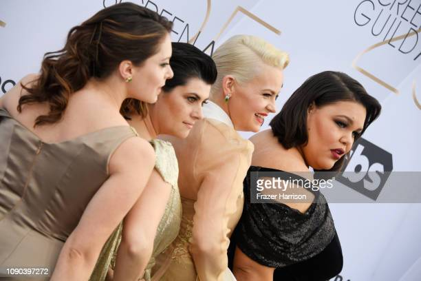 Rachel Bloom Rebekka Johnson Kimmy Gatewood and Britney Young attend the 25th Annual Screen Actors Guild Awards at The Shrine Auditorium on January...