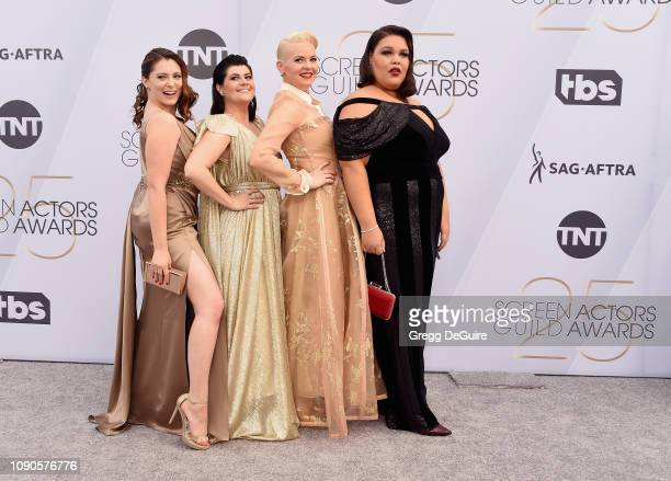 Rachel Bloom Rebekka Johnson Kimmy Gatewood and Britney Young attend the 25th Annual Screen ActorsGuild Awards at The Shrine Auditorium on January...