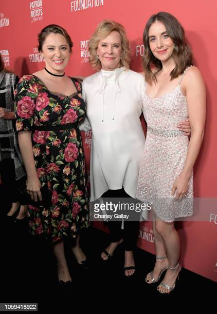 Rachel Bloom SAGAFTRA Foundation President JoBeth Williams and Alison Brie attend the SAGAFTRA Foundation's 3rd Annual Patron of the Artists Awards...