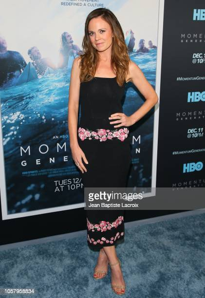 Rachel Boston attends HBO's 'Momentum Generation' premiere held at The Broad Stage on November 05 2018 in Santa Monica California