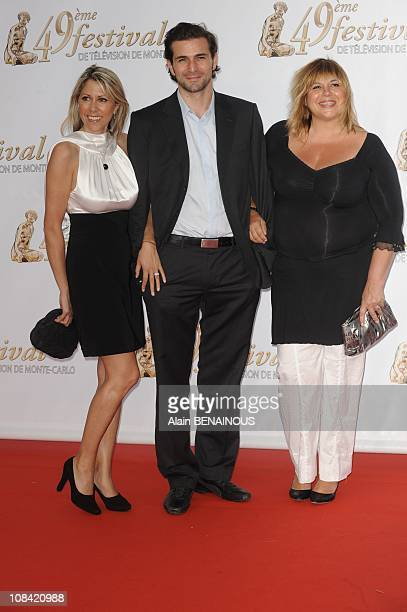 Rachel Bourlier Gregory Fitoussi and Michel Bernier attend the opening night of the 2009 Monte Carlo Television Festival held at Grimaldi Forum in...