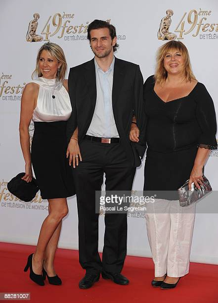 Rachel Bourlier Gregory Fitoussi and Michel Bernier attend the opening night of the 2009 Monte Carlo Television Festival held at Grimaldi Forum on...