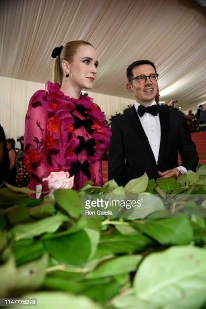 Rachel Brosnahan and Erdem Moralioglu arrive at the 2019 Met Gala Celebration Camp at The Metropolitan Museum of Art on May 06 2019 in New York City