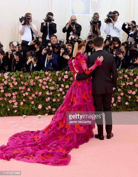 Rachel Brosnahan and Erdem Moralıoğlu attend The 2019 Met Gala Celebrating Camp Notes on Fashion at Metropolitan Museum of Art on May 06 2019 in New...