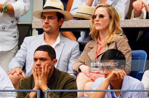 Rachel Brosnahan and Jason Ralph at 2019 US Open Men's finals on September 08, 2019 in New York City.