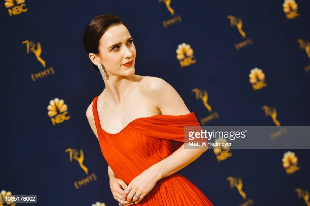 Rachel Brosnahan arrives at the 70th Emmy Awards on September 17 2018 in Los Angeles California