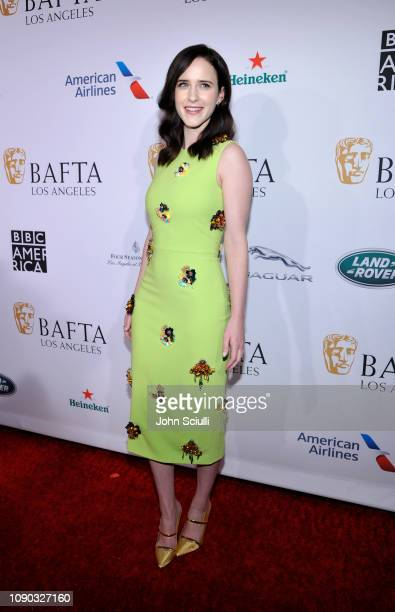 Rachel Brosnahan arrives to the BAFTA Tea Party at The Four Seasons Hotel Los Angeles at Beverly Hills on January 05 2019 in Beverly Hills California
