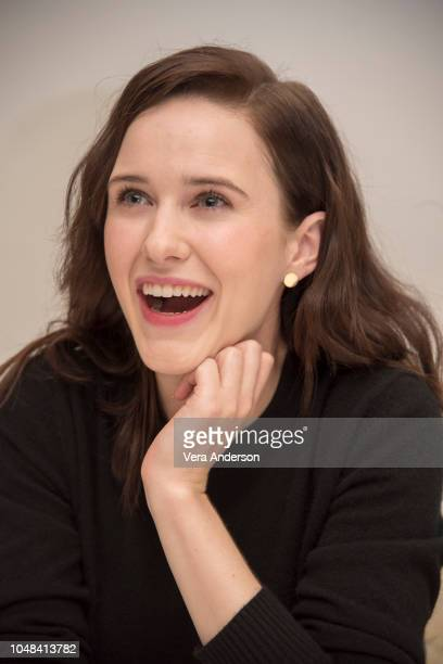 """Rachel Brosnahan at """"The Marvelous Mrs. Maisel"""" Press Conference at the Four Seasons Hotel on October 8, 2018 in Beverly Hills, California."""