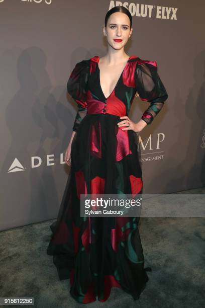 Rachel Brosnahan attends 2018 amfAR Gala New York Arrivals at Cipriani Wall Street on February 7 2018 in New York City