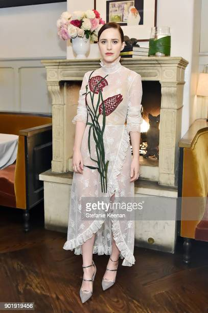 Rachel Brosnahan attends Lynn Hirschberg Celebrates W Magazine's It Girls With Dior at AOC on January 6 2018 in Los Angeles California