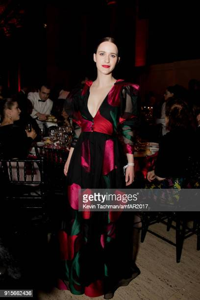 Rachel Brosnahan attends the 2018 amfAR Gala New York at Cipriani Wall Street on February 7 2018 in New York City
