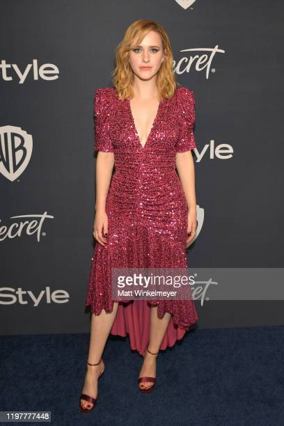 Rachel Brosnahan attends The 2020 InStyle And Warner Bros. 77th Annual Golden Globe Awards Post-Party at The Beverly Hilton Hotel on January 05, 2020...