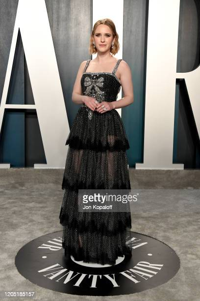 Rachel Brosnahan attends the 2020 Vanity Fair Oscar Party hosted by Radhika Jones at Wallis Annenberg Center for the Performing Arts on February 09...