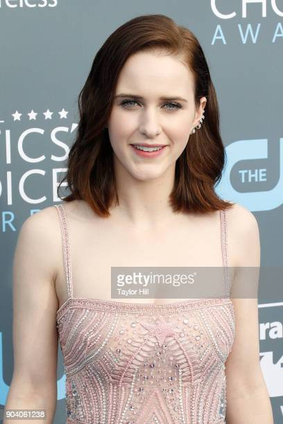 Rachel Brosnahan attends the 23rd Annual Critics' Choice Awards at Barker Hangar on January 11 2018 in Santa Monica California