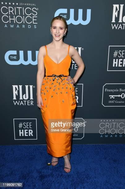Rachel Brosnahan attends the 25th Annual Critics' Choice Awards at Barker Hangar on January 12, 2020 in Santa Monica, California.