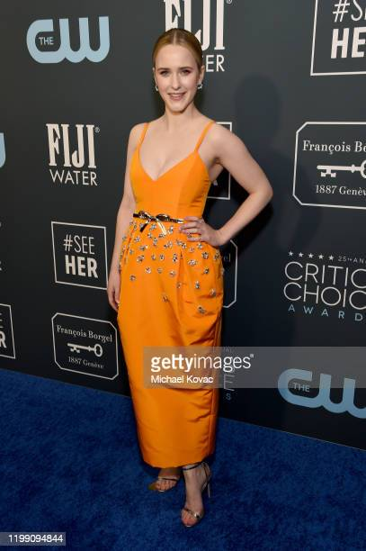 Rachel Brosnahan attends the 25th Annual Critics' Choice Awards at Barker Hangar on January 12 2020 in Santa Monica California
