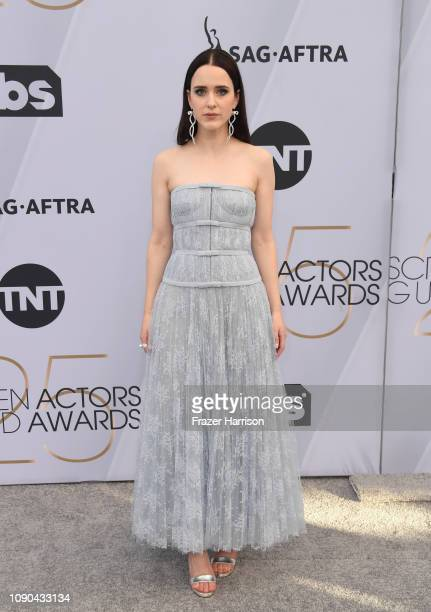 Rachel Brosnahan attends the 25th Annual Screen Actors Guild Awards at The Shrine Auditorium on January 27 2019 in Los Angeles California