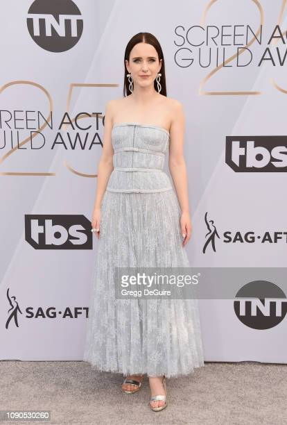 Rachel Brosnahan attends the 25th Annual Screen ActorsGuild Awards at The Shrine Auditorium on January 27, 2019 in Los Angeles, California. 480645