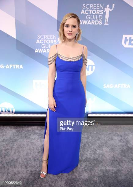 Rachel Brosnahan attends the 26th Annual Screen ActorsGuild Awards at The Shrine Auditorium on January 19, 2020 in Los Angeles, California.