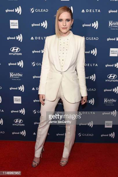 Rachel Brosnahan attends the 30th Annual GLAAD Media Awards New York at New York Hilton Midtown on May 04 2019 in New York City