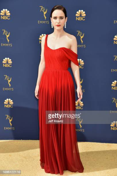 Rachel Brosnahan attends the 70th Emmy Awards at Microsoft Theater on September 17 2018 in Los Angeles California